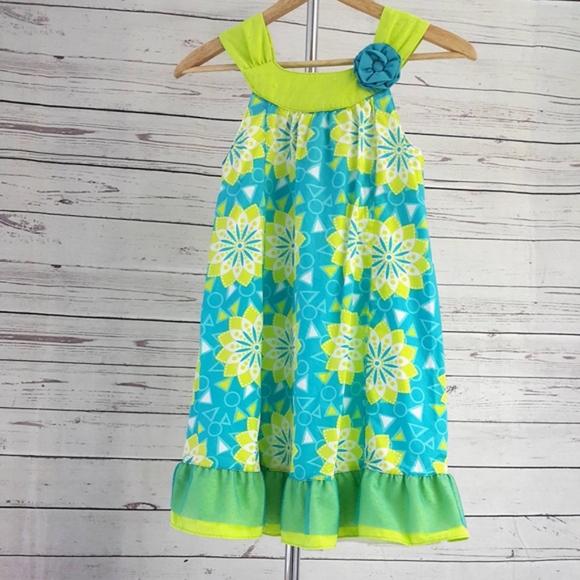 Penelope Mack Girls Black Polka Dress W//3D Flower Size 6